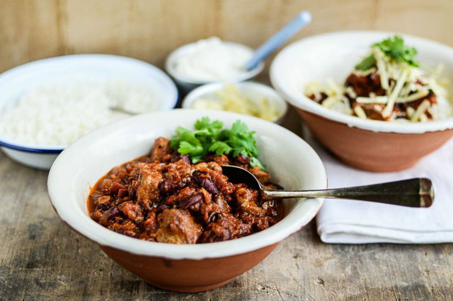 Pork chilli con carne recipe