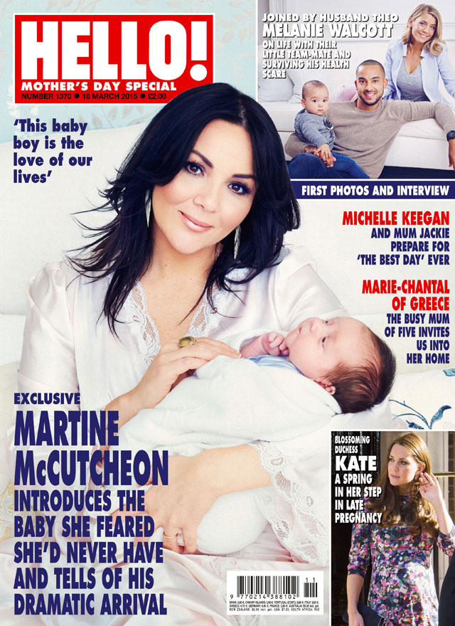 Martine McCutcheon introduces baby Rafferty in Hello! photoshoot