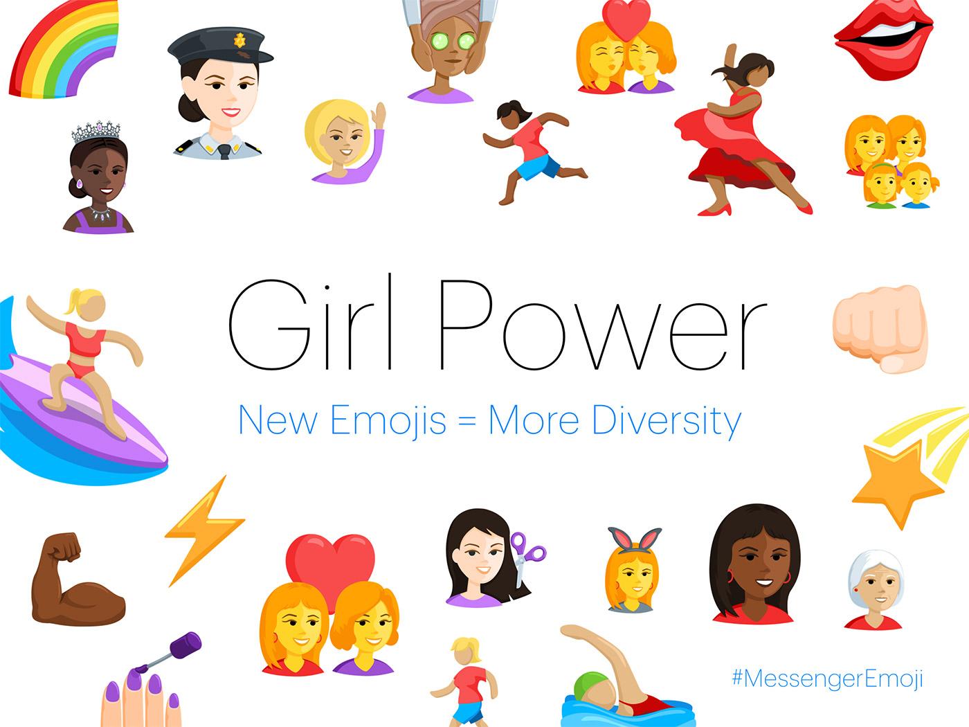 Facebook intros diverse Messenger emojis for all platforms