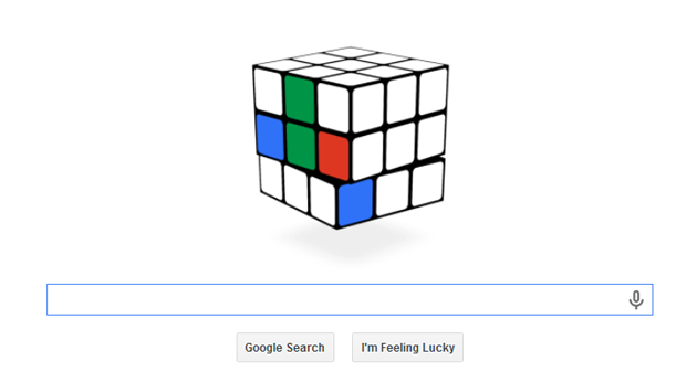 Rubik's Cube game on Google