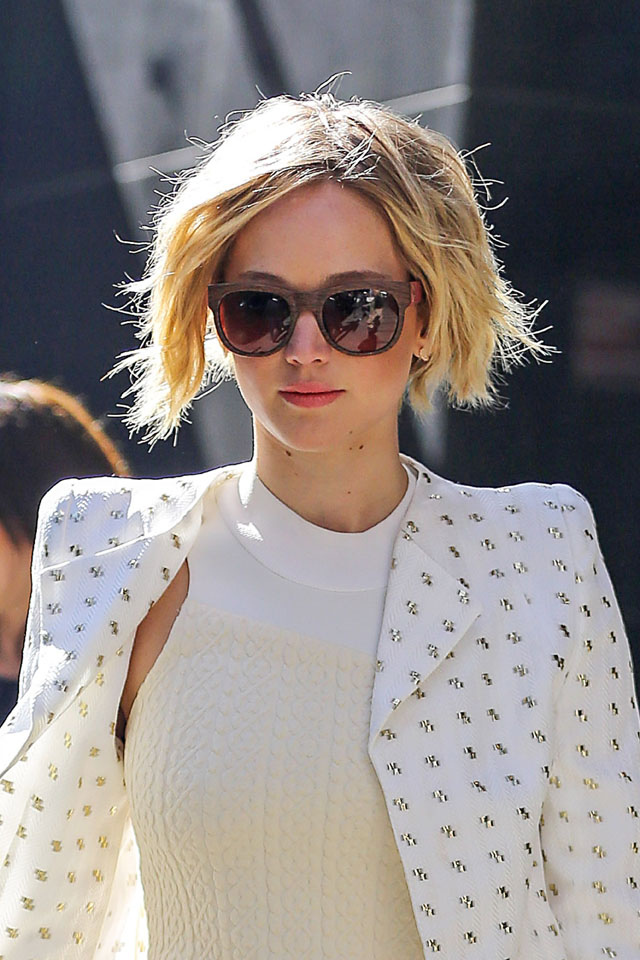 jennifer lawrence hair news shes growing out her pixie crop