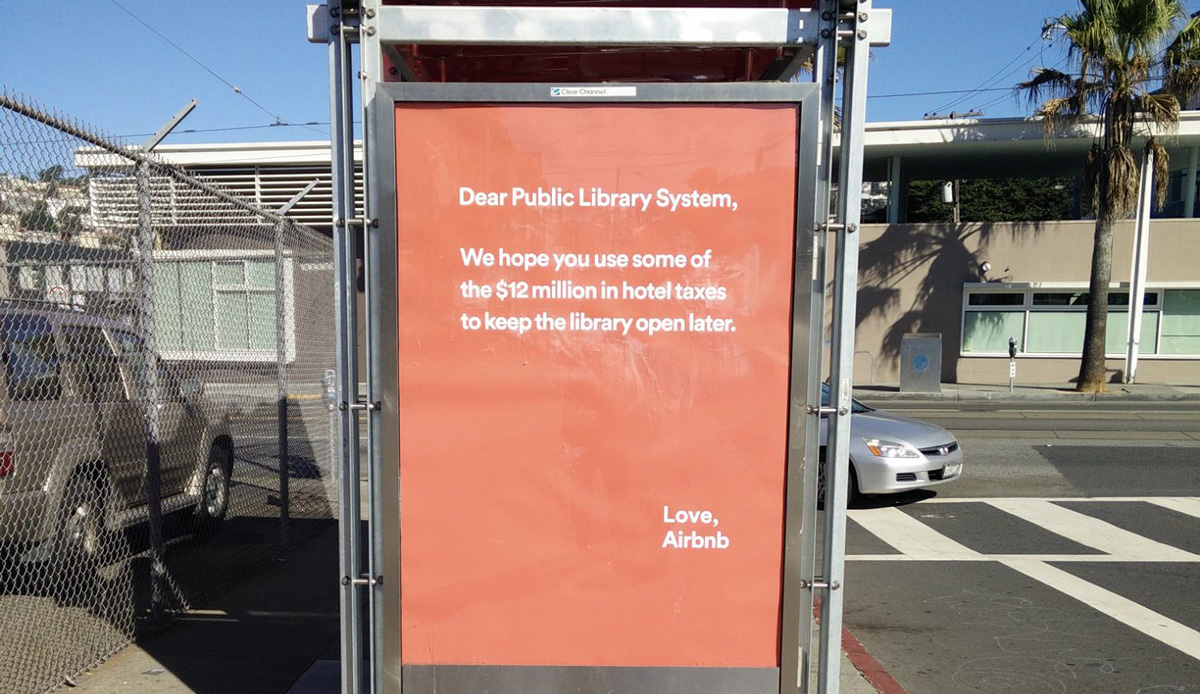 Airbnb ad campaign in San Francisco riles locals and librarians
