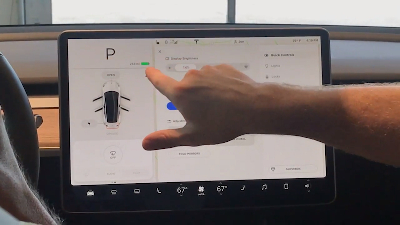 Así se maneja el panel de control de un Tesla Model 3 (¡en vídeo!)