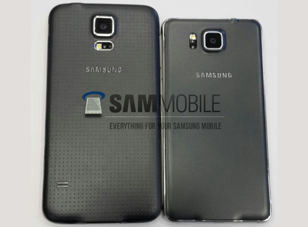 Samsung Galaxy S5 (left), leaked Galaxy Alpha (right)