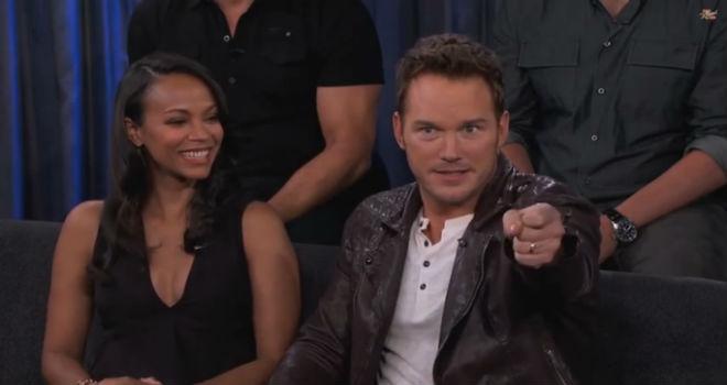 Chris Pratt, Guardians of the Galaxy, Jimmy Kimmel