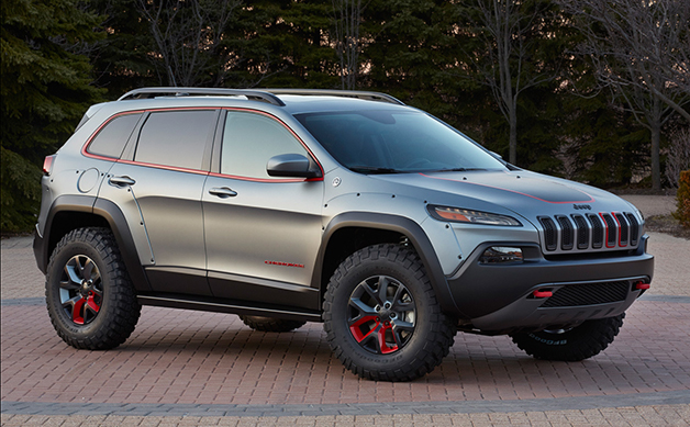 Jeep Cherokee Dakar concept, front three-quarter view.