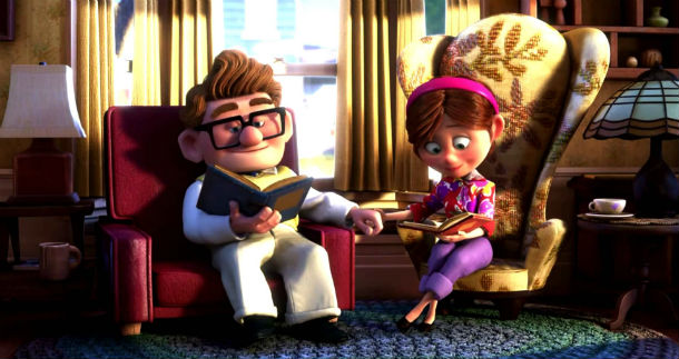 pixar up opening sequence