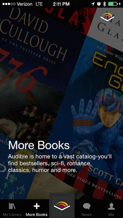 Screenshot of Audible app