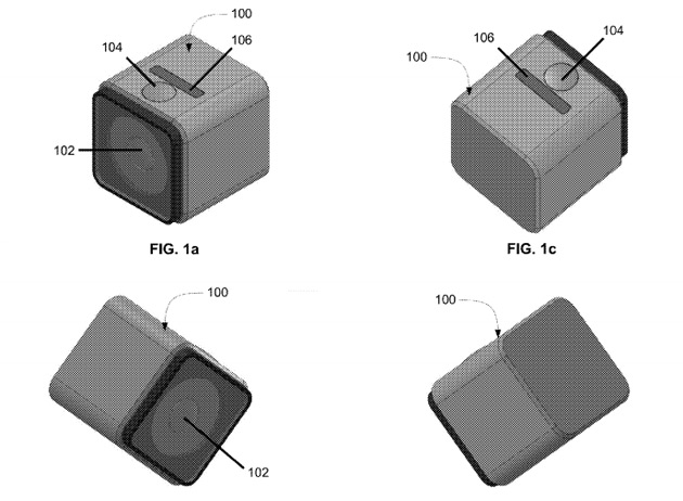 Patent reveals GoPro's working on a 'square profile' camera design