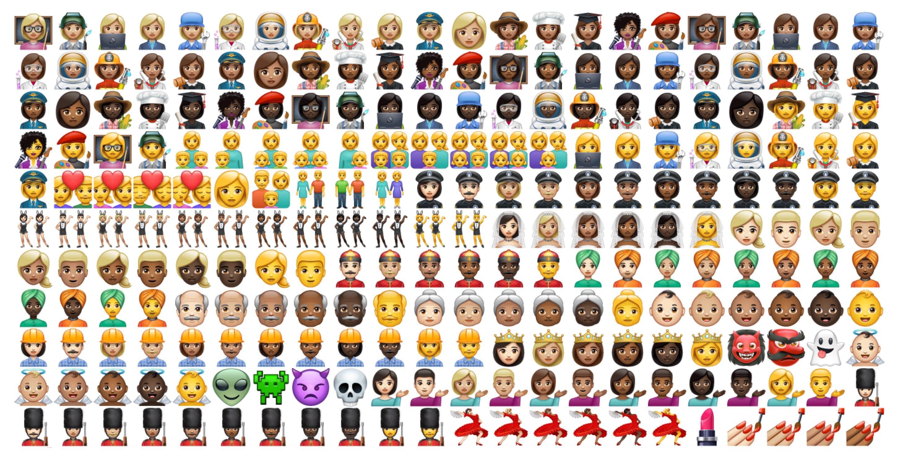 WhatsApp estrena emojis propios con cierto parecido manzanero