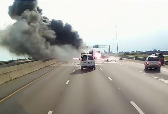 Dash cam crash