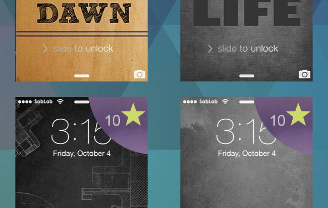 MyLock creates attractive lock screens for your iOS device