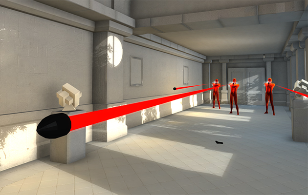 Never leave bullet time in SUPERHOT, a unique take on first person shooters