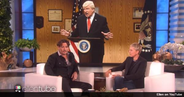 ジョニー・デップ、米『SNL』アレック・ボールドウィンのトランプ大統領のモノマネの後任に意欲!?