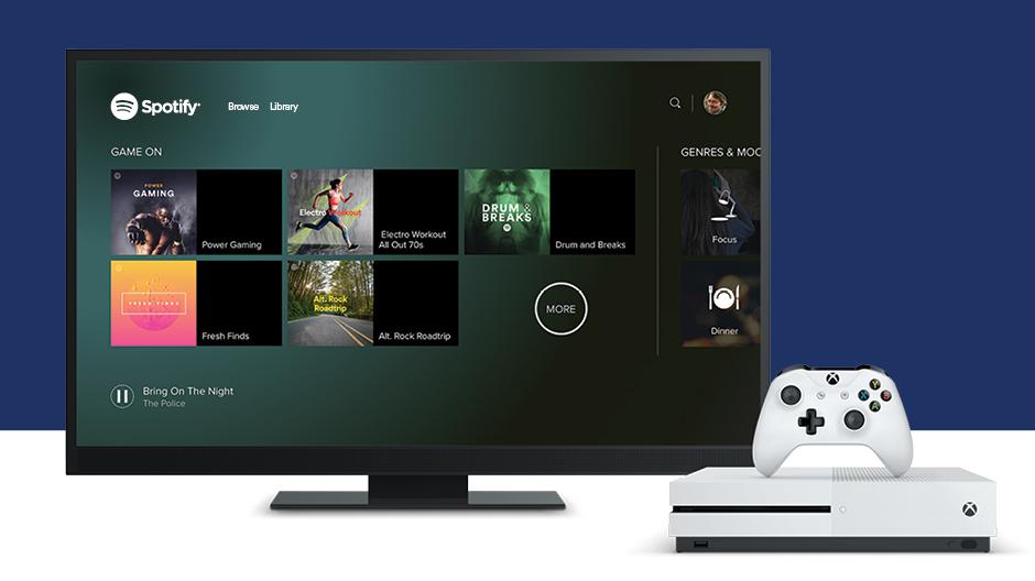 Spotify llega por fin a Xbox One