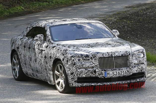 Rolls-Royce Wraith DHC spy shot