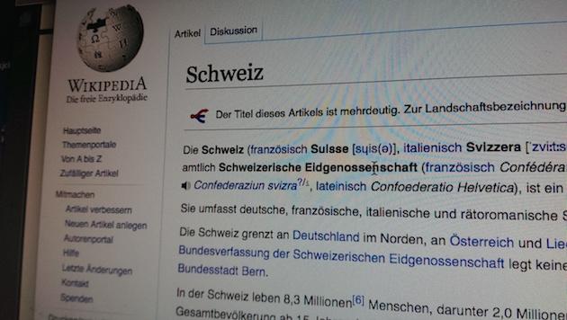 Schönfärberei: Schweizer Beamte sollen im großen Stil Wikipedia-Artikel manipuliert haben