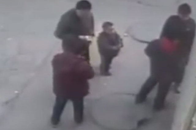 Boys throw firework into gas filled sewer. See what happens next (video)