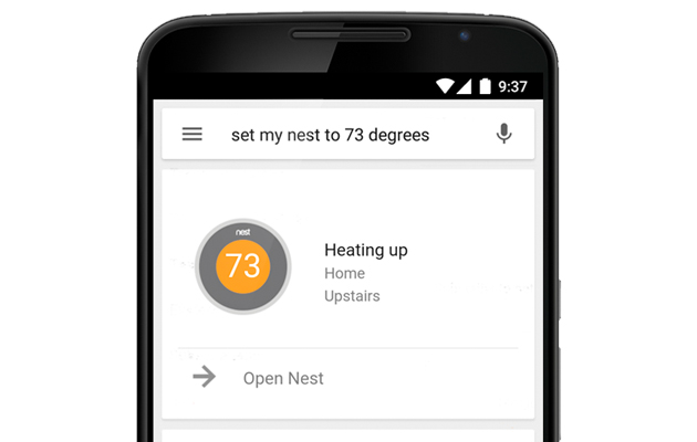Use Google Now to control your Nest thermostat