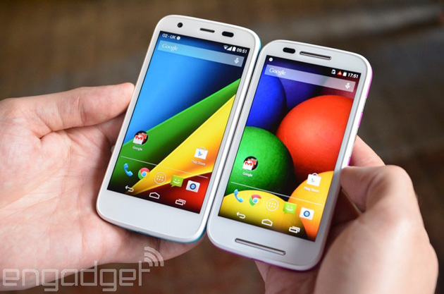 Motorola Moto G and Moto E