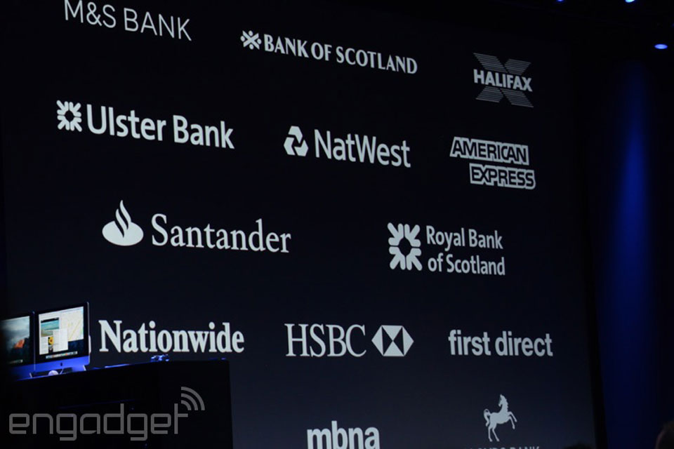 Apple Pay UK's initial partners