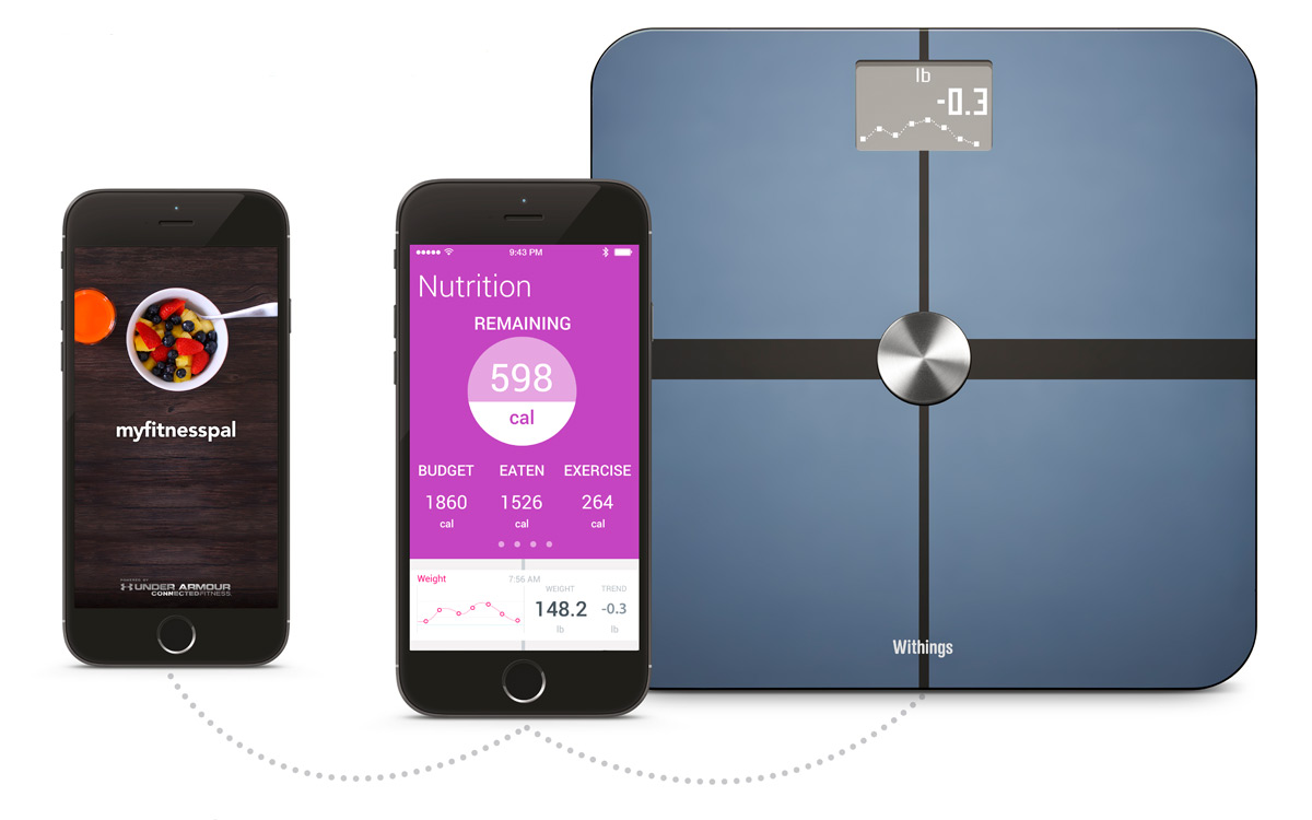 Withings tracks your nutrition thanks to MyFitnessPal