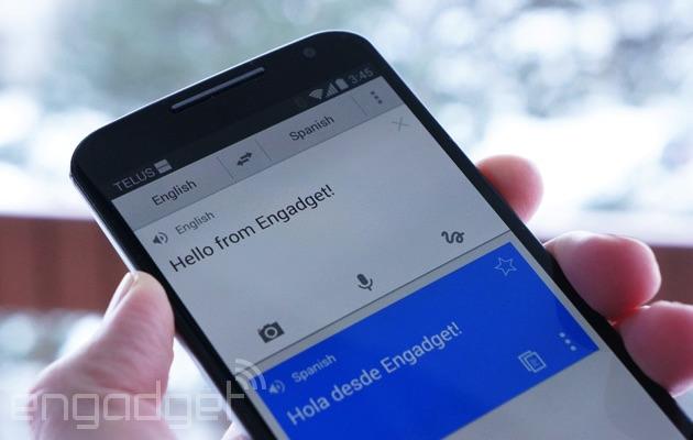 Google Translate on a Moto X