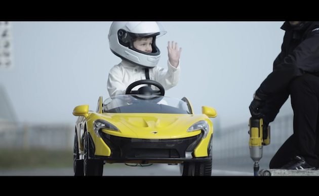 【ビデオ】マクラーレン、子供向け電動スーパーカー「ライドオン マクラーレン P1」のテスト走行映像を公開