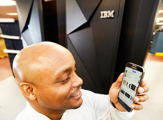 Using a Galaxy S4 in front of an IBM mainframe