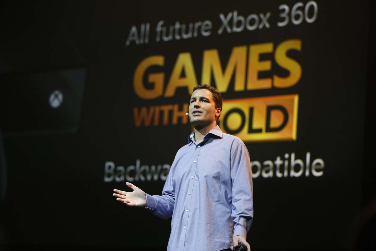 Mike Ybarra, Head of Platform Engineering, Xbox, at the Xbox gamescom 2015 Briefing on Tuesday, 4 August 2015 in Cologne, Germany. (Photo by Ina Fassbender for Microsoft)
