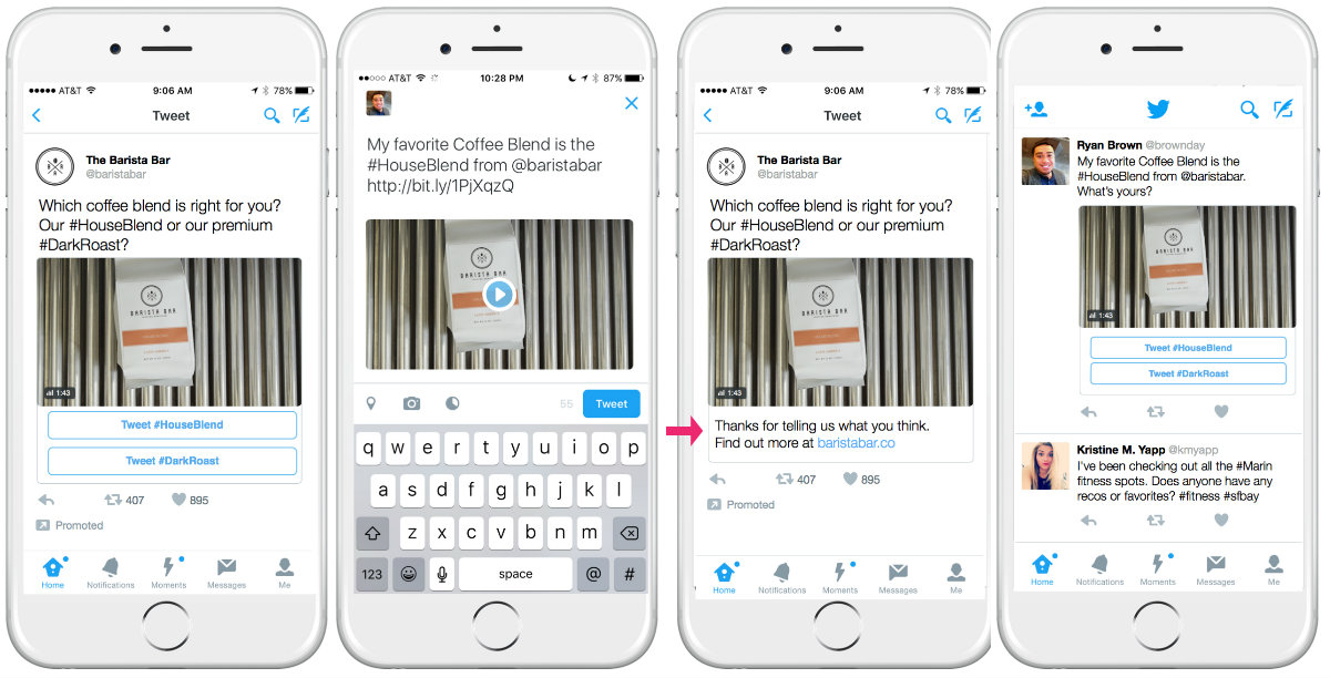 Twitter is rolling out interactive 'conversational' ads