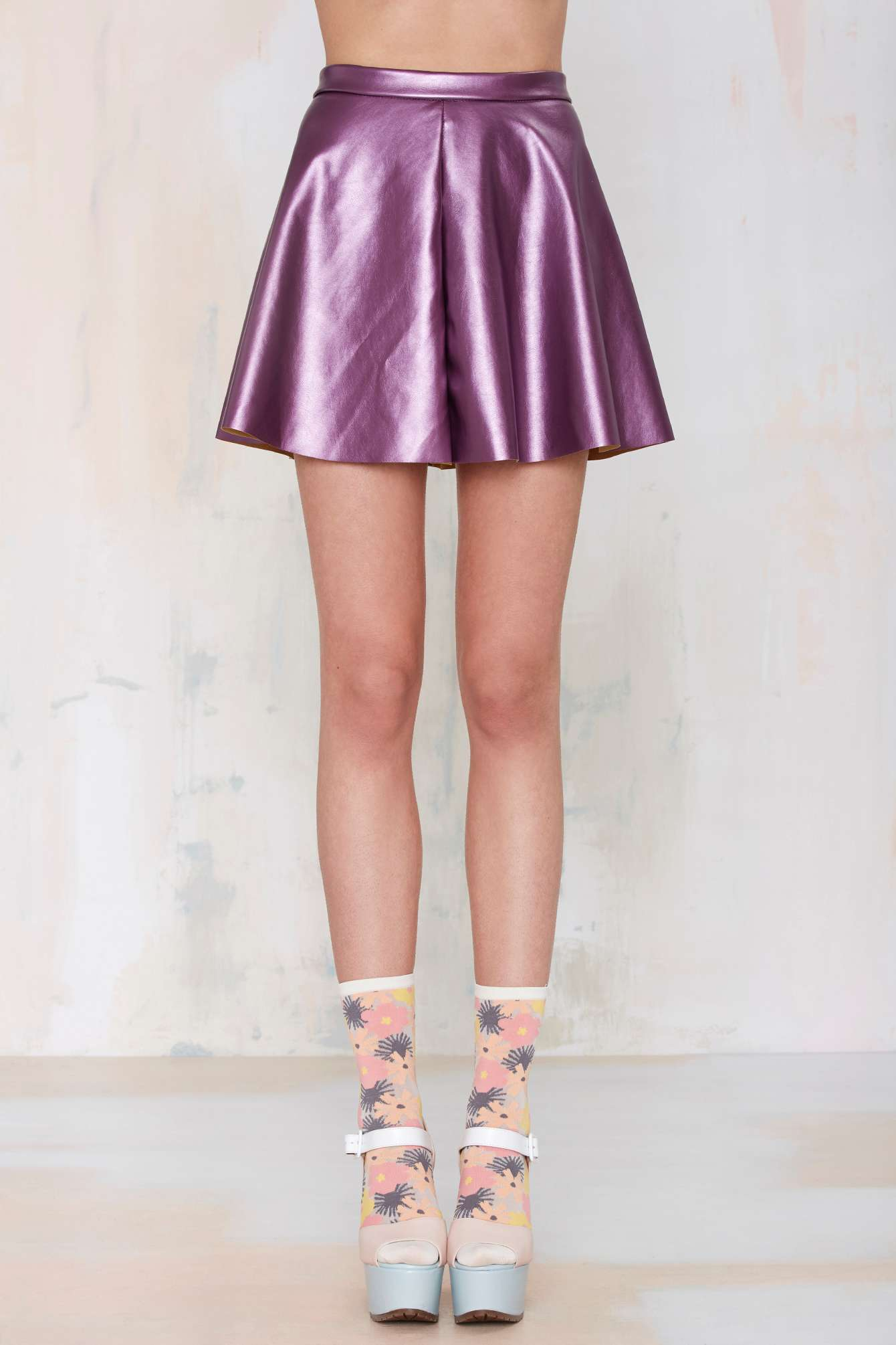 Nasty Gal purple skirt