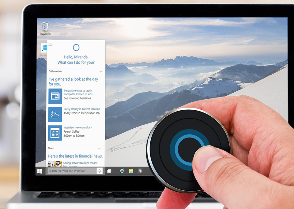 Call Windows' Cortana assistant with this Bluetooth button