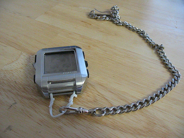 palm os fossil watch