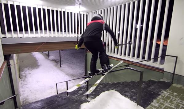 雪が無くてもOK!どんな所でも滑走するスキー軍団の超絶テクニックがスゴすぎる【動画】