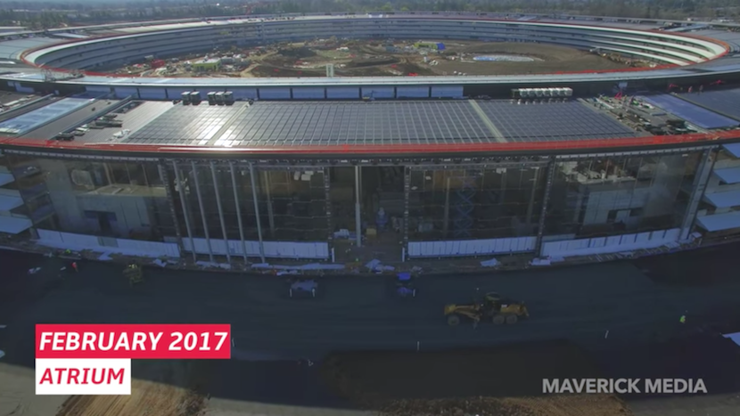Apple Park: Ein Jahr Baufortschritt im Schnelldurchlauf