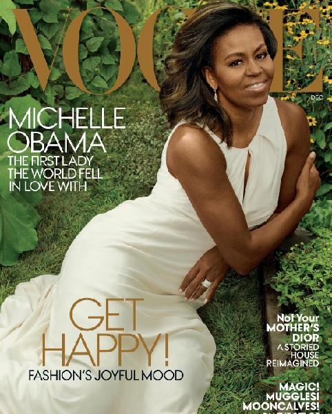 ミシェル夫人、ホワイトハウスを去る前にファッション誌『ヴォーグ』12月号の表紙を飾る