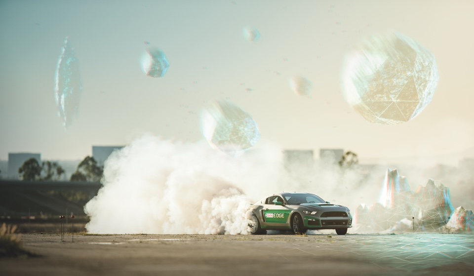 Castrol makes a driver burn rubber while wearing a VR headset