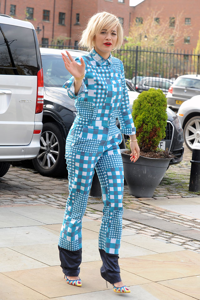 rita ora wears pyjamas