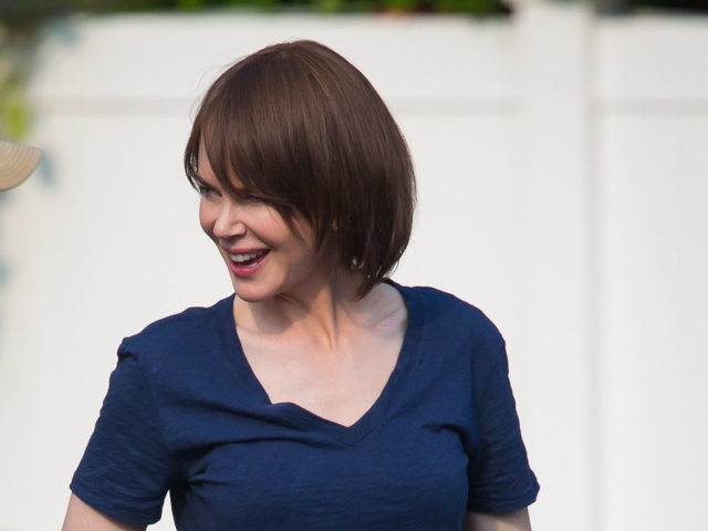 Nicole Kidman shows off brown bob on set of Family Fang