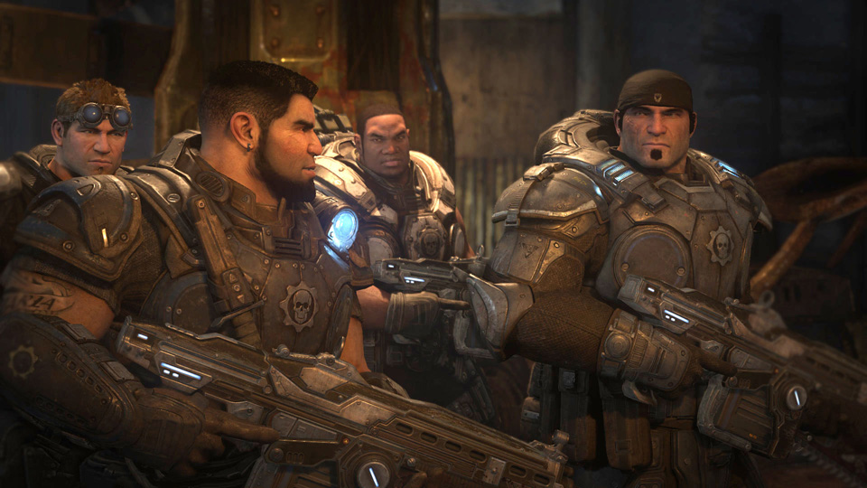 Marcus, Dom, Baird and Cole in Gears of War: Ultimate Edition