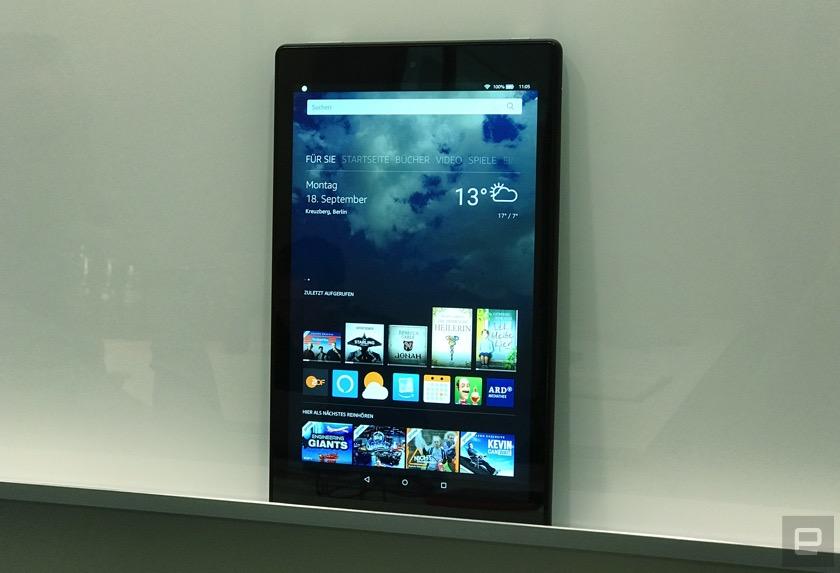 Amazon zeigt neues Tablet: Fire HD 10 jetzt mit Alexa