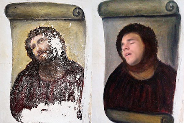 sleeping intern photoshop, funny photoshop battle, sleeping intern jesus painting photoshop