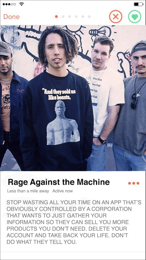 tinder profiles of early 2000s rock bands, if early 2000s bands had tinder bios, funny tinder