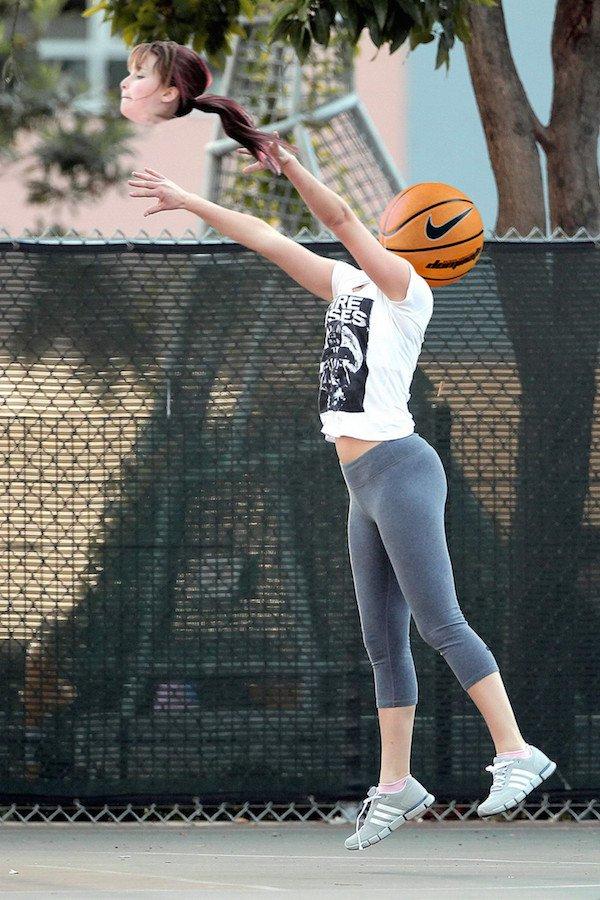 Jennifer Lawrence Shooting Hoops Gets Photoshopped
