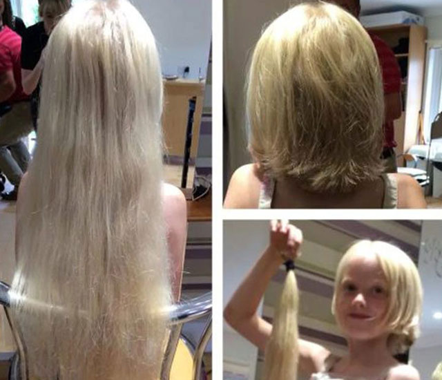 Real-life Rapunzel has two-foot long hair chopped off for cancer victims