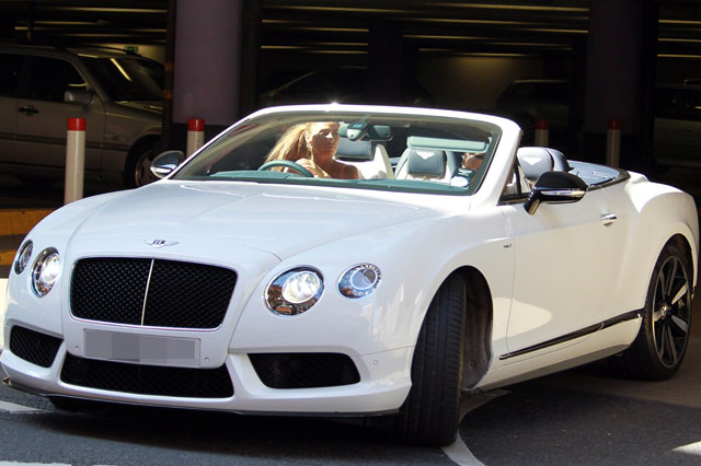 Pregnant Katie Price splashs out £100,000 on a Bentley Convertible to ease her heartbreak