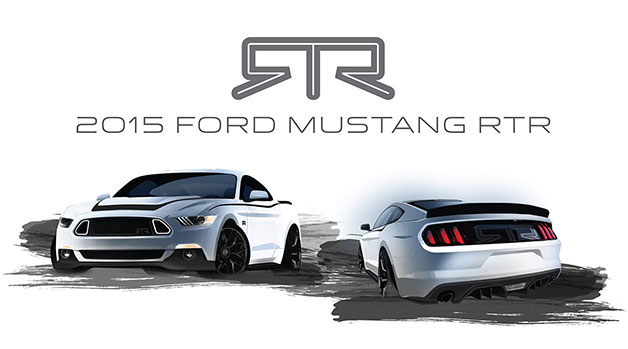 Rendering of the 2015 RTR Mustang that will be shown at SEMA.