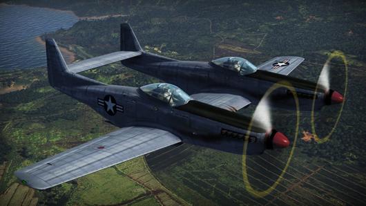 War Thunder's Twin Mustang