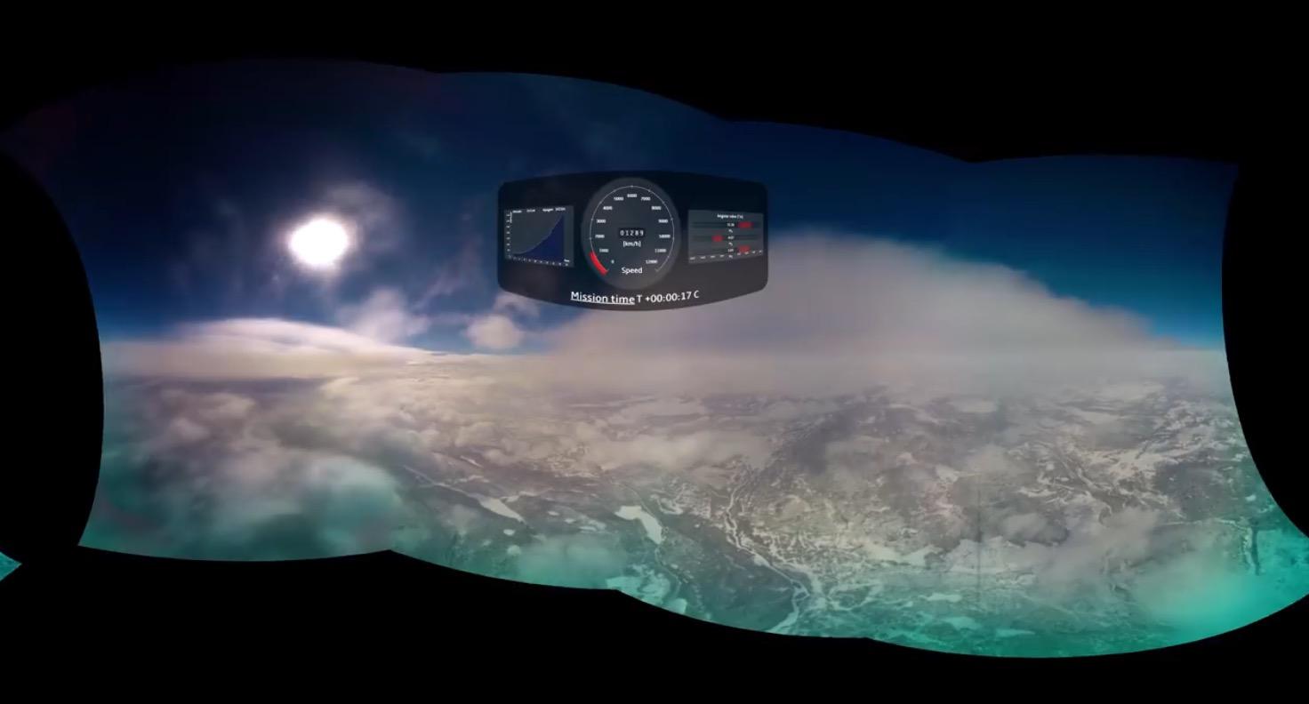 Point of Rakete: 360-Grad-Video vom Flug in die Exosphäre